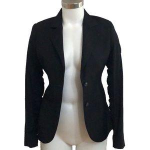 William Rast Classic Black Blazer Ruching Sleeves